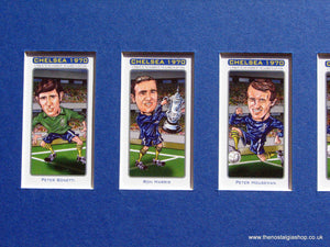 Chelsea F.A. Cup Winners 1970. Mounted  Football Card Set