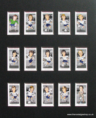 Derby County Champions of 1974-1975. Mounted Football Card Set