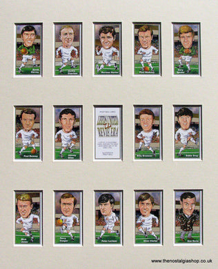 Leeds United, The Revie Era. Mounted Football Card Set