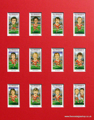 Nottingham Forest. Kings of Europe 1979. Mounted Football Card Set.