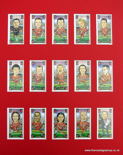 Liverpool Champions League 2005. Mounted Card Set.