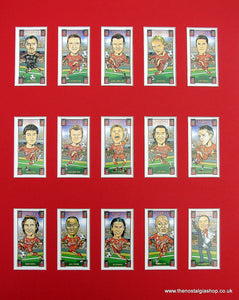 Liverpool Champions League 2005. Mounted Football Card Set.