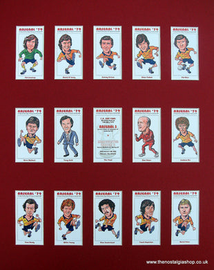 Arsenal FA Cup Winners 1979 Mounted Football Card Set