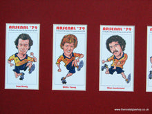 Load image into Gallery viewer, Arsenal FA Cup Winners 1979 Mounted Football Card Set