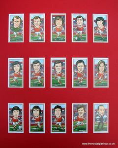 Arsenal 1970-71 Double winners. Mounted Football card set