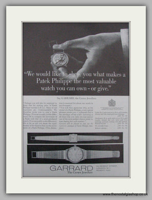 Garrard Watches, The Crown Jewellers.  Original Advert 1966 (ref AD9471)