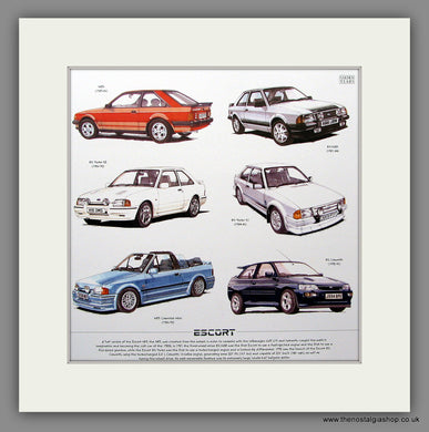 Ford Escort Mounted Car Print
