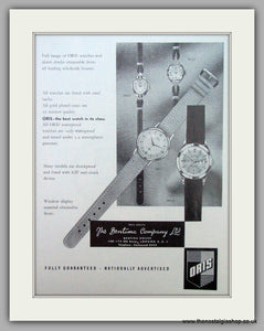 Oris Swiss Watches. Original Advert 1962.  (ref AD7356)