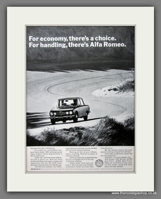 Alfa Romeo 1750 Berlina. Original American Advert 1971 (ref AD54574)