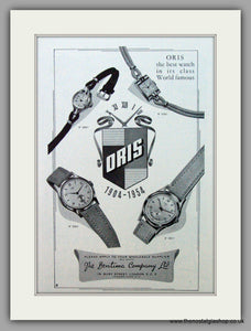 Oris Swiss Watches. Original Advert 1955.  (ref AD7366)