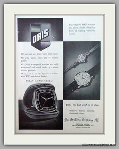Oris Swiss Watches. Original Advert 1961.  (ref AD7368)