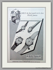 Oris Swiss Watches. Original Advert 1955.  (ref AD7370)