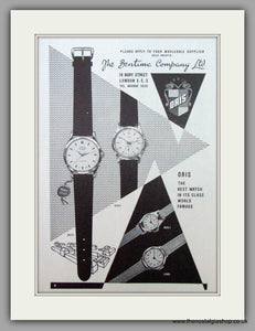 Oris Swiss Watches. Original Advert 1958.  (ref AD7371)