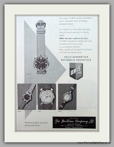 Oris Swiss Watches. Original Advert 1962.  (ref AD7372)