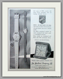 Oris Swiss Watches. Original Advert 1963.  (ref AD7373)