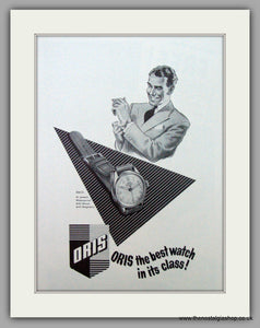 Oris Swiss Watches. Original Advert 1953.  (ref AD7375)