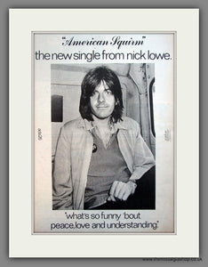 Nick Lowe. American Squirm. Original Advert 1978 (ref AD12082)