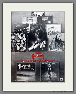 Nazareth. All The Best For Christmas. Original Advert 1977 (ref AD12090)