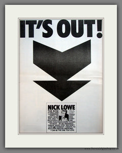 Nick Lowe. The Rose Of England. Original Advert 1985 (ref AD12084)