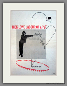 Nick Lowe. Labour Of Lust. Original Advert 1979 (ref AD12085)