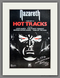 Nazareth. Hot Tracks. Original Advert 1977 (ref AD12092)