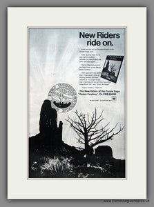 New Riders Of The Purple Sage. Gypsy Cowboy. Original Advert 1973 (ref AD12100)