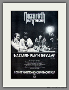Nazareth. Play 'N' The Game. Original Advert 1976 (ref AD12093)