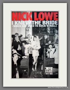 Nick Lowe. I Knew The Bride. Original Advert 1985 (ref AD12083)