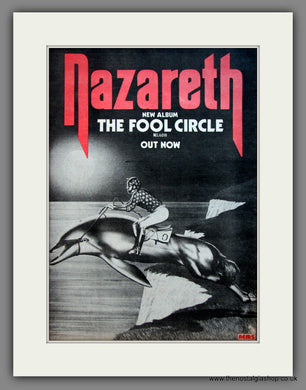 Nazareth. The Fool Circle. Original Advert 1981 (ref AD12097)