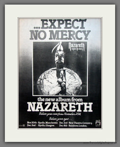 Nazareth. Expect No Mercy. Original Advert 1977 (ref AD12094)