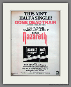 Nazareth. Gone Dead Train. Original Advert 1978 (ref AD12095)