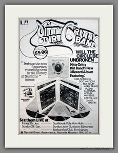 Nitty Gritty Dirt Band. Original Advert 1973 (ref AD12079)
