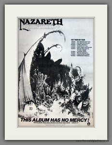 Nazareth. Hair Of The Dog. UK Tour Dates. Original Advert 1975 (ref AD12098)