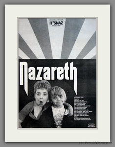 Nazareth. It'Snaz. Original Advert 1981 (ref AD12096)