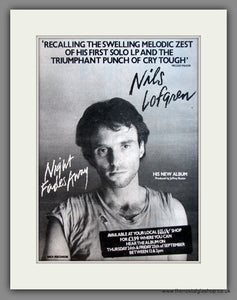 Nils Lofgren. Night Fades Away. Original Advert 1981 (ref AD12099)