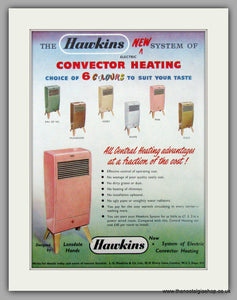 Hawkins Convector Heating. Original Advert 1956 (ref AD7454)