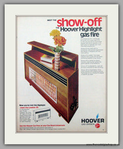 Hoover Highlight Gas Fire. Original Advert 1970 (ref AD7455)