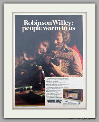 Robinson Willey Gas Fire. Original Advert 1971 (ref AD7456)