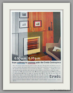 Creda Centrepiece Electric Fire. Original Advert 1962 (ref AD7458)