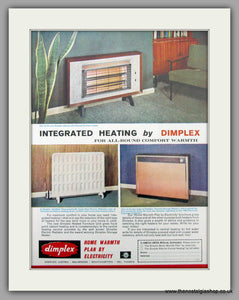 Dimplex Electric heating. Original Advert 1964 (ref AD7461)
