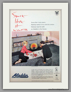Aladdin Oil Heaters. Original Advert 1961 (ref AD7464)