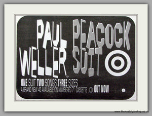 Paul Weller. Peacock Suit. Vintage Advert 1996 (ref AD7487)