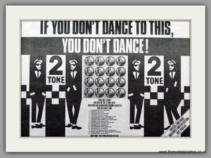 2 Tone. If You Don't Dance To This. Vintage Advert 1983 (ref AD7491)