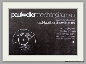 Paul Weller. The Changing Man. Vintage Advert 1995 (ref AD7495)