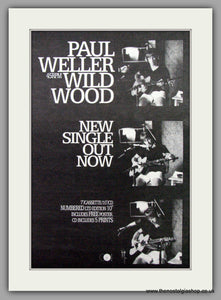 Paul Weller. Wild Wood. Vintage Advert 1993 (ref AD7520)