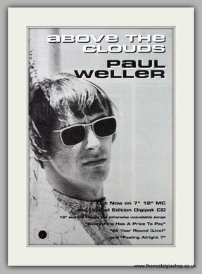 Paul Weller. Above The Clouds. Vintage Advert 1992 (ref AD7522)