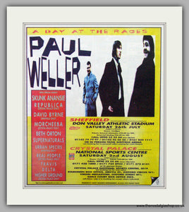 Paul Weller. A Day At The Races. Vintage Advert 1997 (ref AD7523)