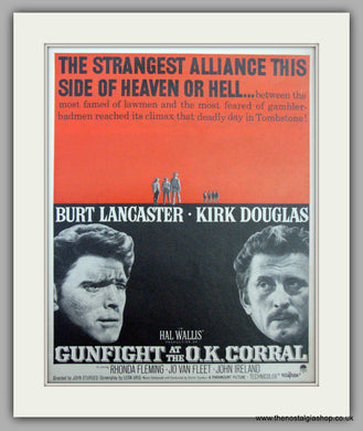 Gunfight At The O.K. Corral.  Vintage Advert 1957 (ref AD9491)