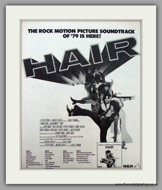 Hair The Musical, Soundtrack.  Vintage Advert 1979 (ref AD9494)
