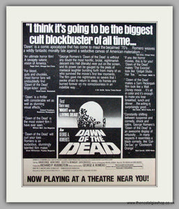 Dawn Of The Dead. Vintage Advert 1979 (ref AD9495)